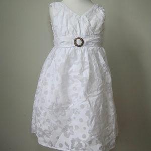 CANDIES White Dress 6 Girls Sleeveless Easter
